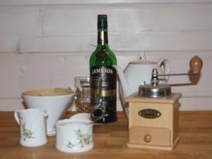 Zutaten für einen Irish Coffee
