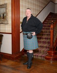 Für den Whiskyhändler und -entertainer Michael Gradl ist der Schottenrock eine Frage der Ehre. Foto: (c) M. Gradl
