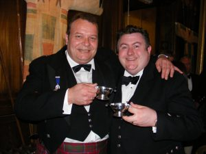 Keepers of the Quaich - Andrea Caminneci und George S. Grant von Glenfarclas. Foto: (c) A. Caminneci